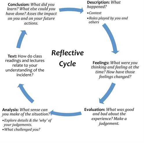 Write essay using gibbs reflective cycle